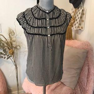 Max studio quarter button up blouse. BNWT